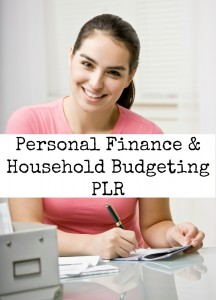 personal finance plr