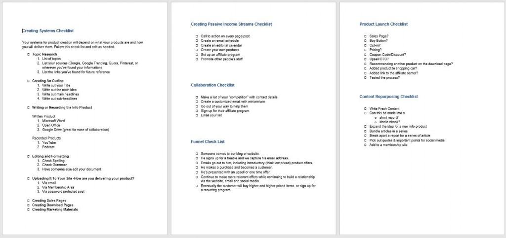 bonus checklist