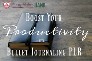 bullet journal plr