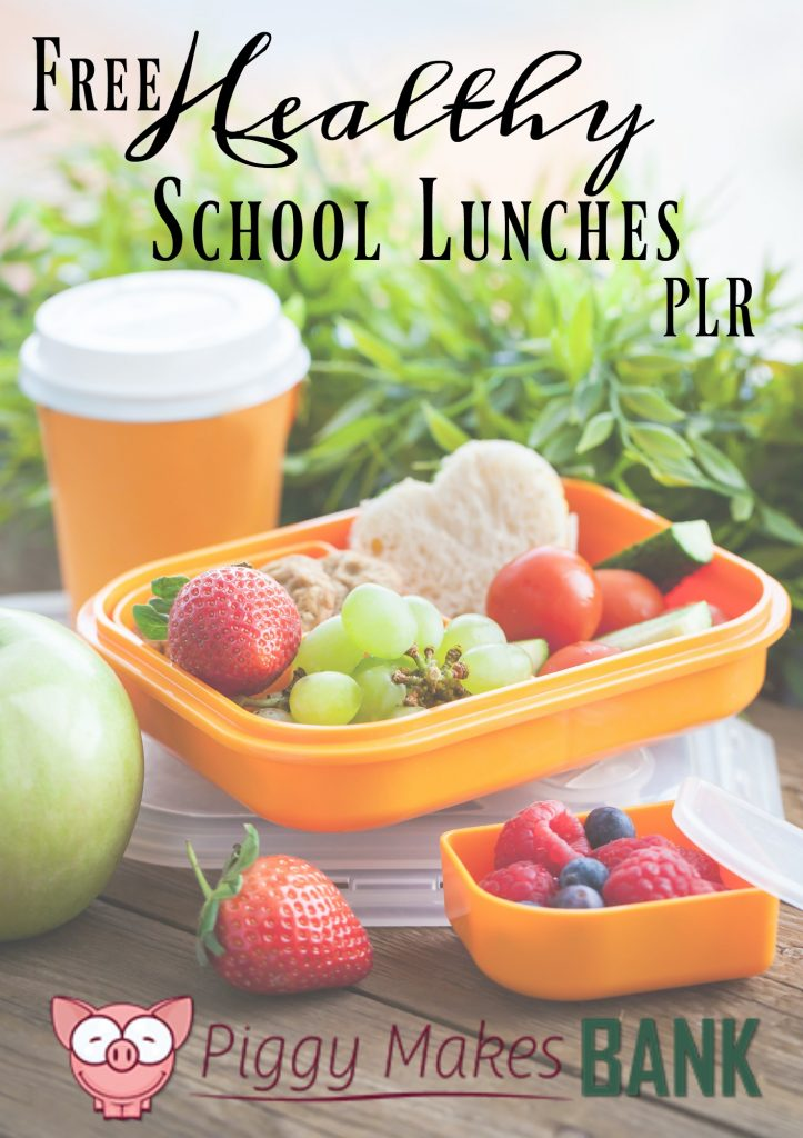 Free PLR healthy school lunch
