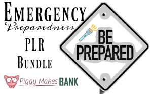 Emergency Preparedness PLR Bundle From Piggy Makes Bank