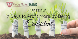 7 Days To Profit More By Being Consistent Free PLR