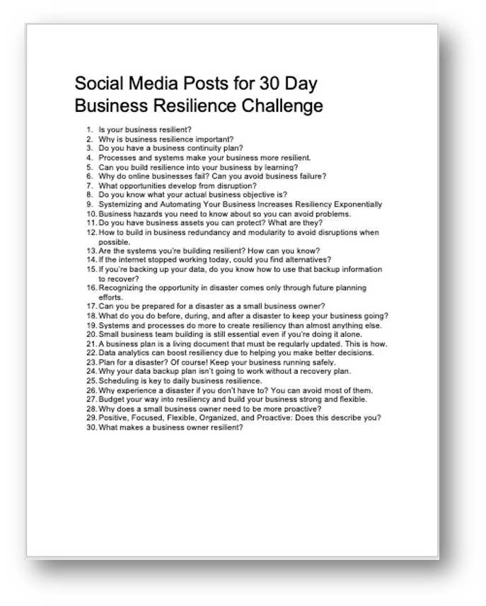 Adding Resilience Social Media