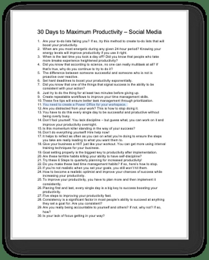 Quarterly Planning Social Media