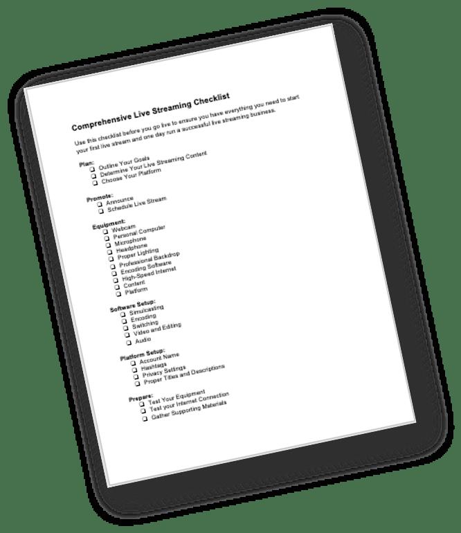 Live Streaming Bonus Checklist